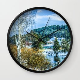 Winter came Wall Clock