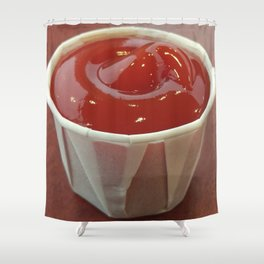 Ketchup Cup Shower Curtain