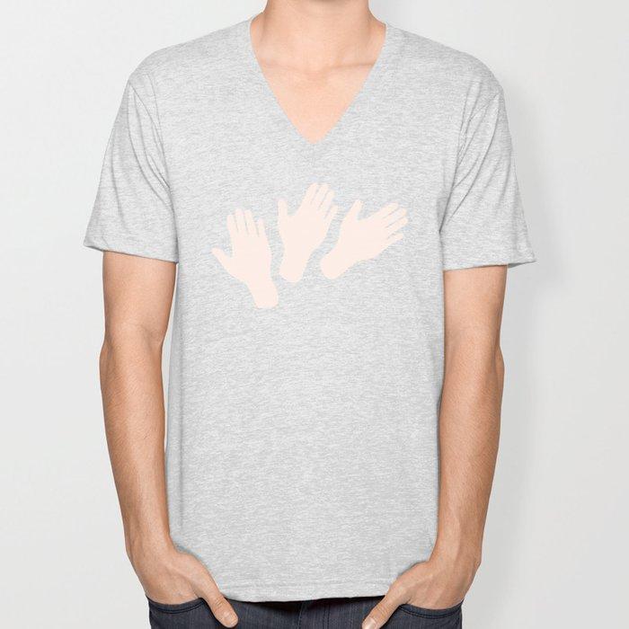 Waving Hands Unisex V-Neck