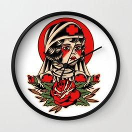 Traditional Nurse Tattoo Wall Clock