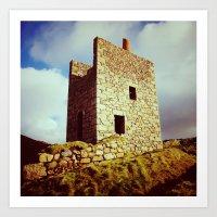 Cornish Engine House Art Print