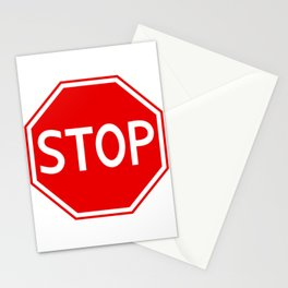 Red stop sign Stationery Cards