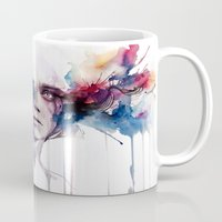high Mugs featuring l'assenza by agnes-cecile