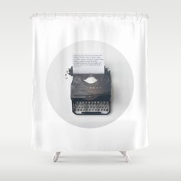 Universal Typewriter Shower Curtain