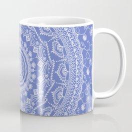 Secret garden mandala in dreamy blue Coffee Mug