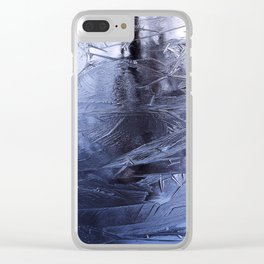 Blue Steel Clear iPhone Case