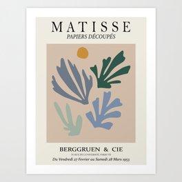 Matisse cutoff - abstract cutoff balanced art Art Print