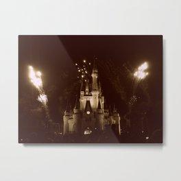 Magic Kingdom Fireworks Metal Print