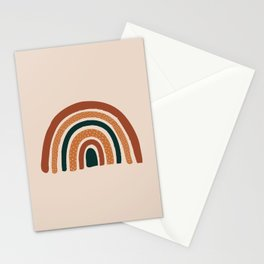 Terracotta Abstract Rainbow Stationery Cards