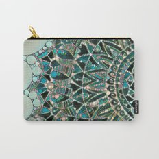Bloom Mandala in Ocean Carry-All Pouch