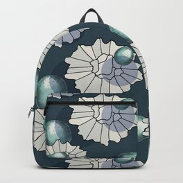 original graphic design with several shapes for garments and designs in blue and white colors Backpack