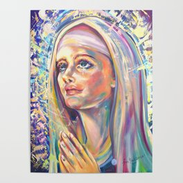 Saint Clare of Assisi, potrait Poster