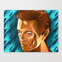 david bowie Canvas Prints featuring Bowie  by Beth Gatza