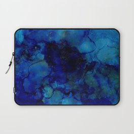 NEW Alcohol Ink Deep Blue Trip I Laptop Sleeve
