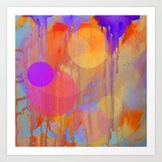 watercolour spots Art Print