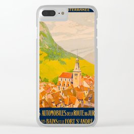 Vintage poster - Route du Jura, France Clear iPhone Case