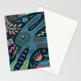 Jumping Rabbit Stationery Cards