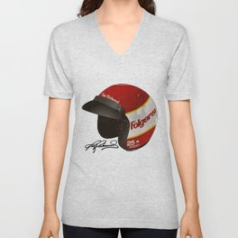 Tim Richmond Vintage Helmet Unisex V-Neck