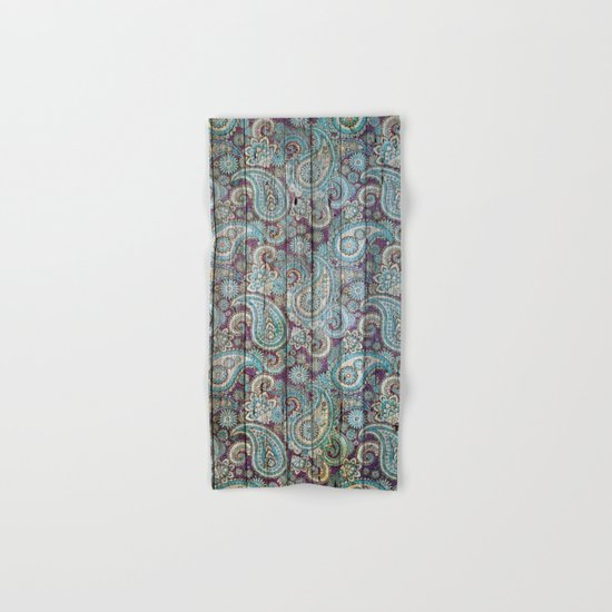 Kashmir on Wood 06 Hand & Bath Towel