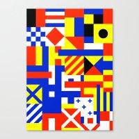 sail Canvas Prints featuring Sail by Jan Luzar