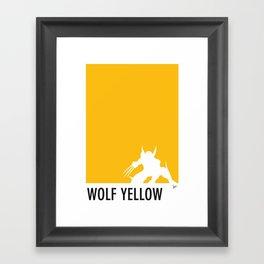 My Superhero 05 Wolf Yellow Minimal poster Framed Art Print