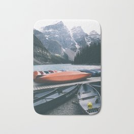 Moraine Lake Canoes Bath Mat