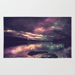 Magical Mountain Lake : Eggplant Teal Rug