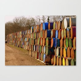 Glastonbury Bins Canvas Print
