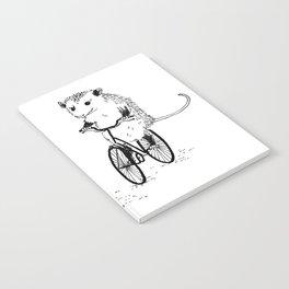 Opossums bike, too Notebook