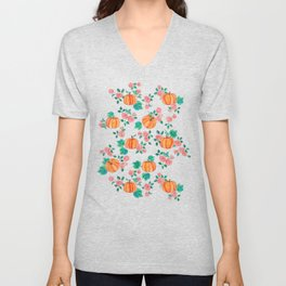 Pumpkins and Roses Unisex V-Neck