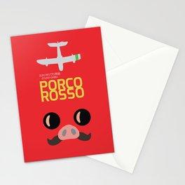 Porco Rosso - Hayao Miyazaki minimalist movie poster - Studio Ghibli, japanese animated film Stationery Cards