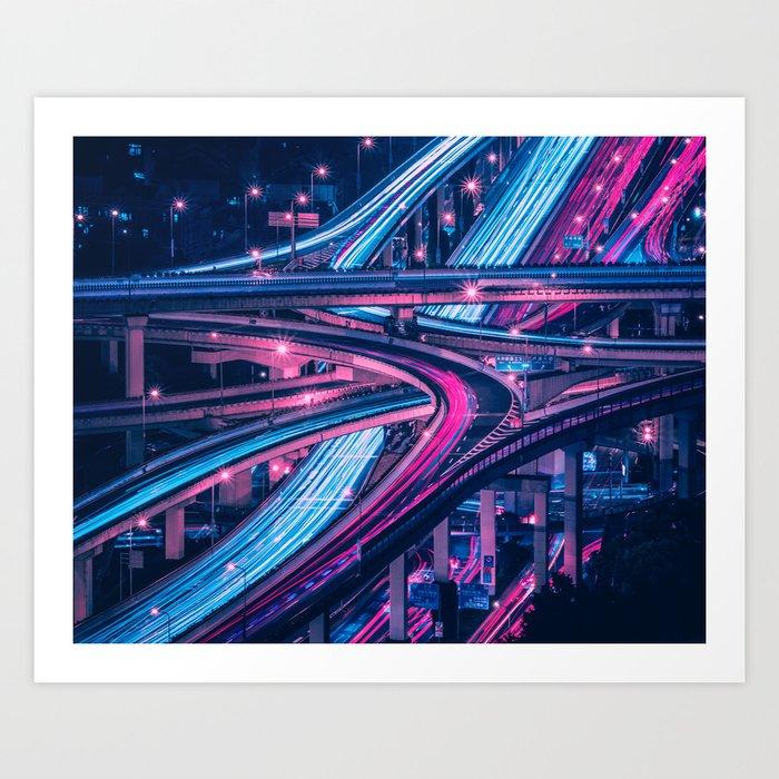 Shanghai six-level stack interchange Art Print