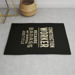 Construction Worker Work Job Title Gift Rug