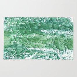 Sea green streaked watercolor pattern Rug