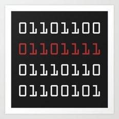 Binary Love Art Print