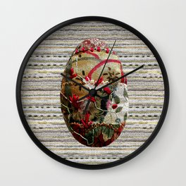 Stitched egg Wall Clock