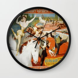 Vintage poster - The Greatest Living Lady Rider Wall Clock