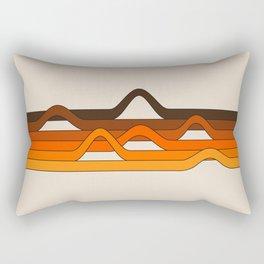 Golden Wavelength Rectangular Pillow
