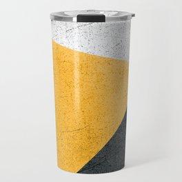 Modern Yellow & Black Geometric Travel Mug