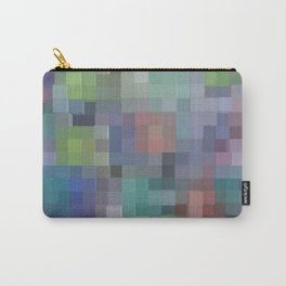 Abstract pixel pattern Carry-All Pouch
