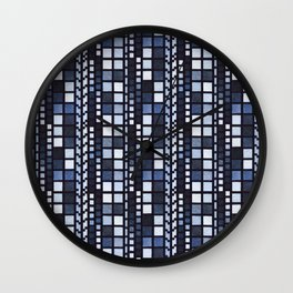 Building Windows Pattern Design Wall Clock