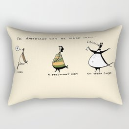 What can an ampersand be used for? Rectangular Pillow
