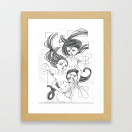 becoming  Framed Art Print