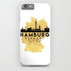 HAMBURG GERMANY SILHOUETTE SKYLINE MAP ART iPhone 6s Slim Case