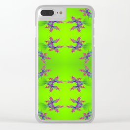 Abstract-lightning-pattern Clear iPhone Case