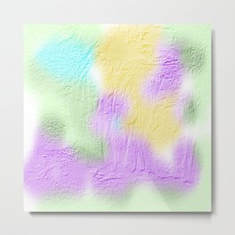 Thick pastel painted texture Metal Print