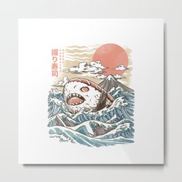 Sharkiri Sushi Metal Print