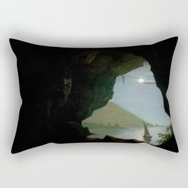 Joseph Wright of Derby - Grotto in the Gulf of Salerno Rectangular Pillow