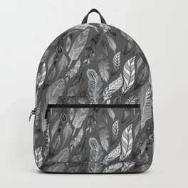 Falling Feathers on a Grey Day Backpack