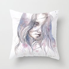 Spring 2015, watercolor Throw Pillow